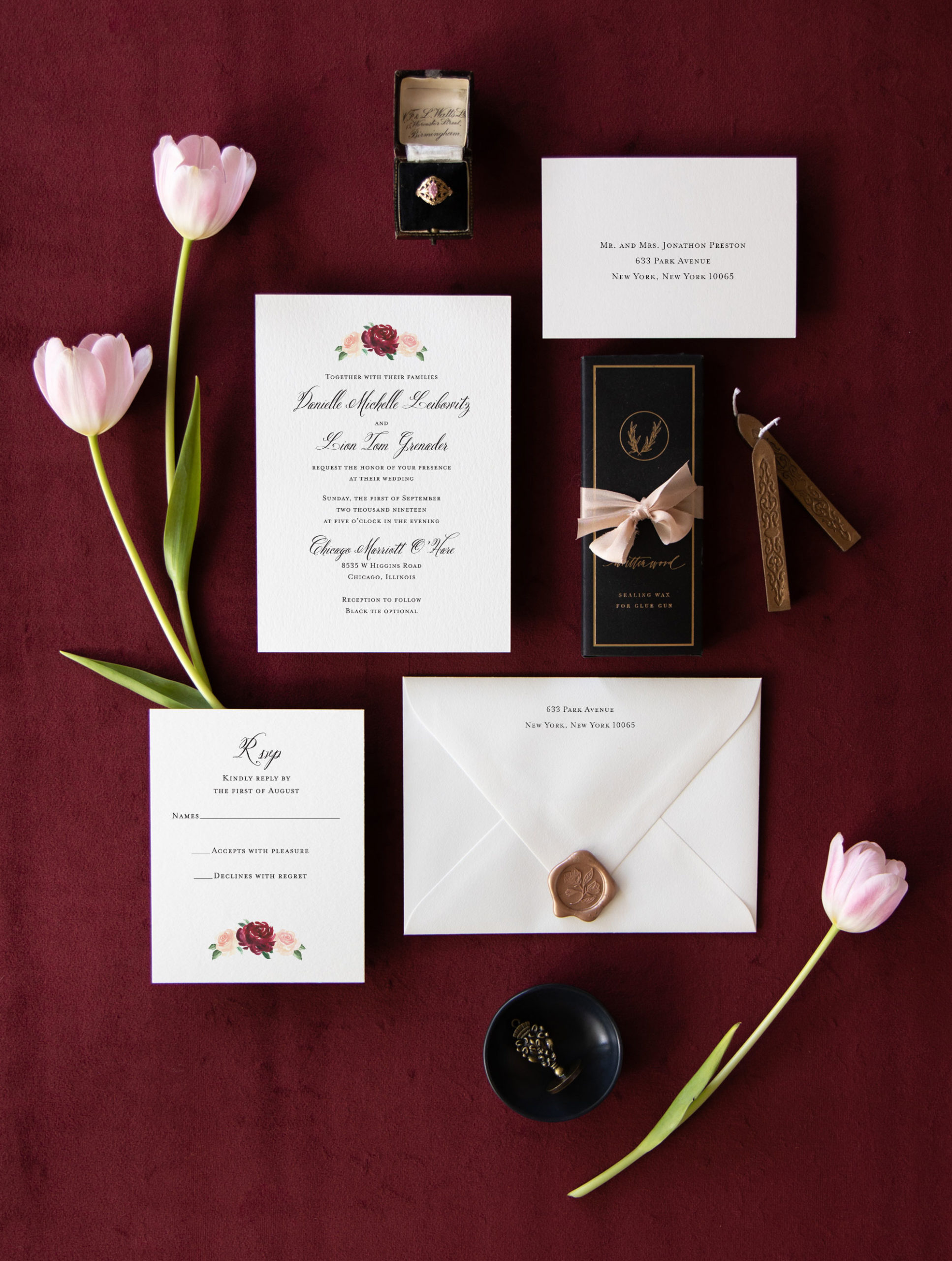 fall-custom-wedding-invitation-with-watercolor-burgundy-flowers